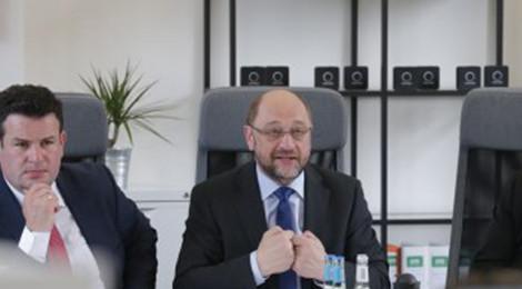 Martin Schulz zu Besuch bei sonnen in Berlin