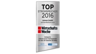 WirtschaftsWoche Top Energy Storage 2016 sonnen award 1