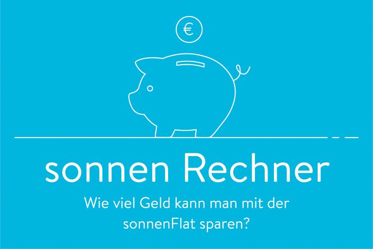 Sparschwein mit Euro Münze auf blauen Hintergrund