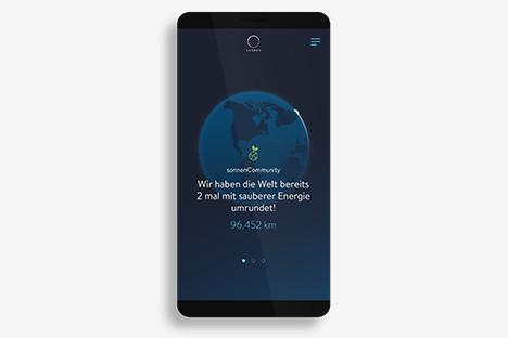 Darstellung der sonnenCommunity in der sonneCharger-App