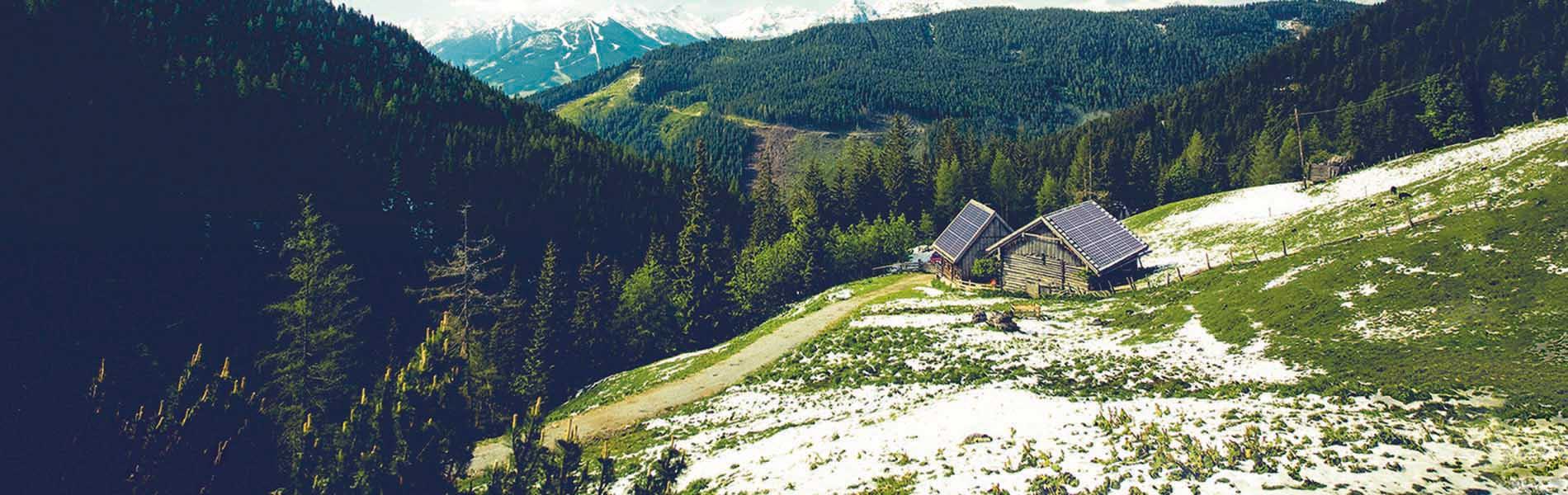 Hütte Berge Alpen Photovoltaik