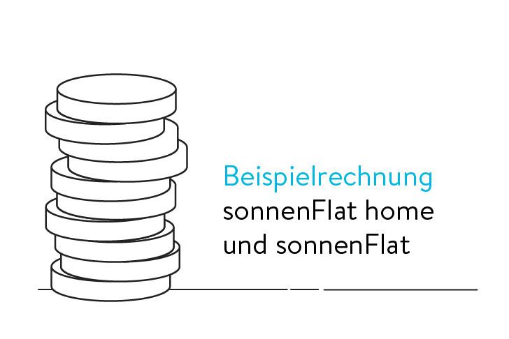 Beispielrechnung sonnenFlat home und sonnenFlat