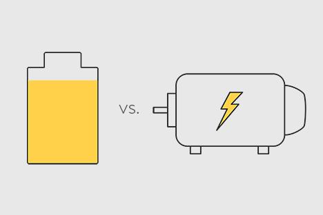 Battery vs. Generator