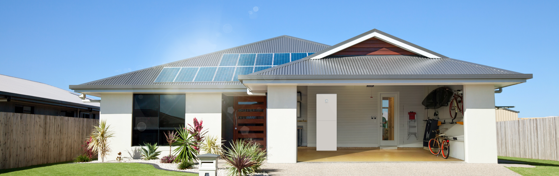 one story house with a sonnenBatterie hybrid
