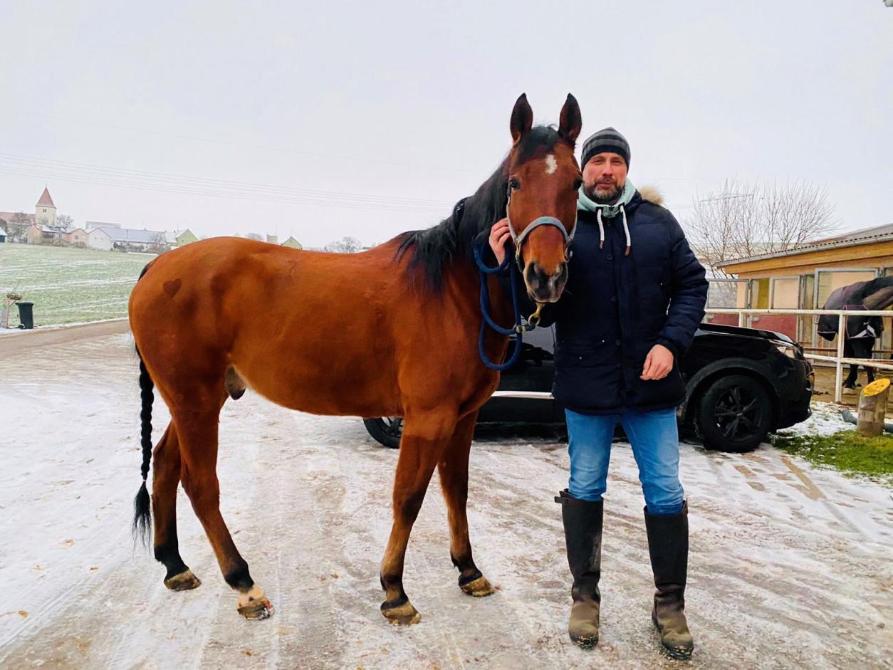Pierre Lorenz und Pferd