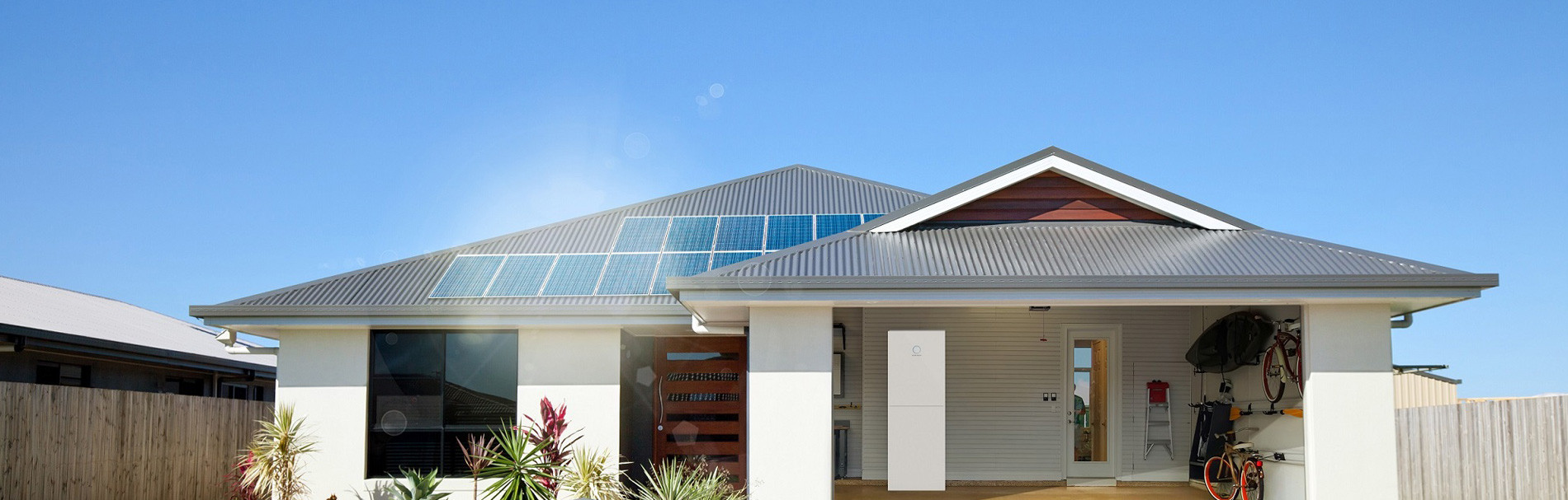 Australian house with solar and batterie