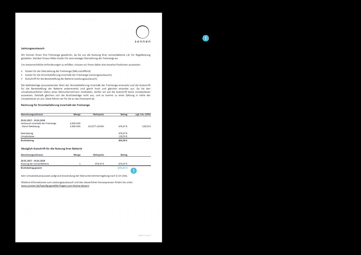 Jahresabrechnung - Erklärung Seit 5