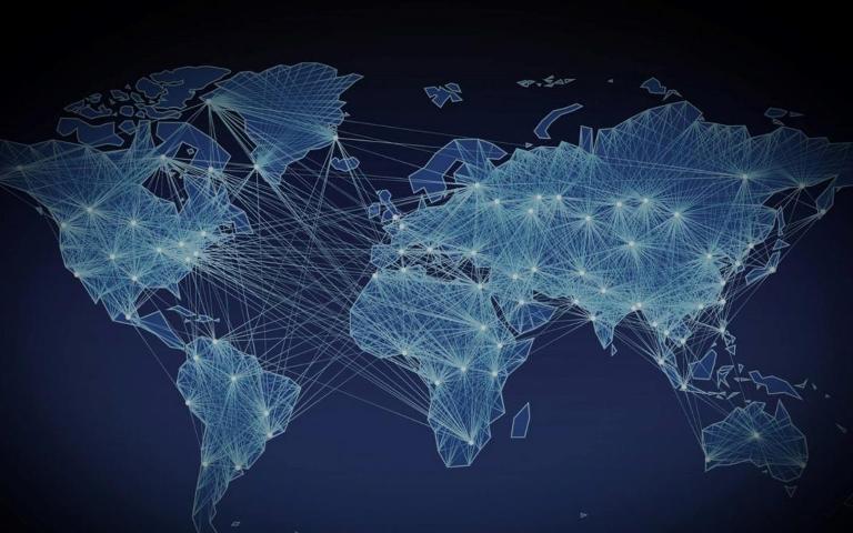 Community Map Blue Globe