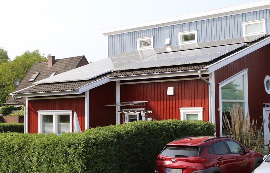Das Haus von Stefan Schwunk mit einer PV-Anlage
