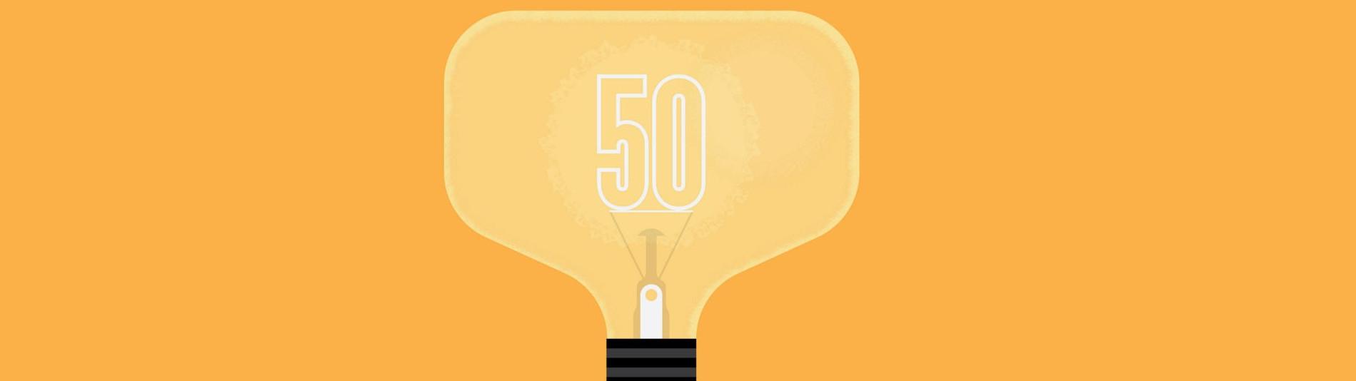 gelbe Glühbirne symbolisiert sonnen als smartes Unternehmen