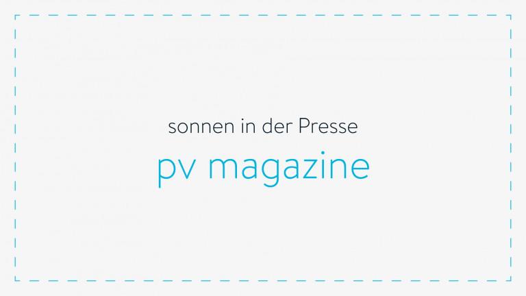 sonnen in der Presse - pv-magazin