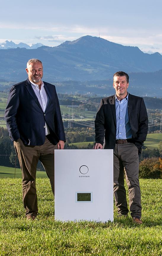sonnen founders Christoph and Torsten with original sonnenBatterie