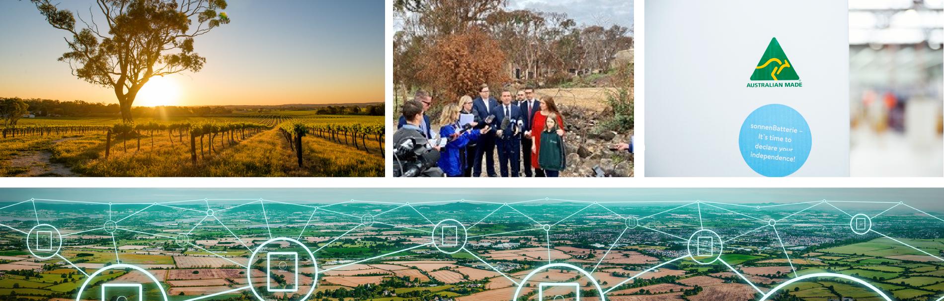 collage bushfire sonnen australia made