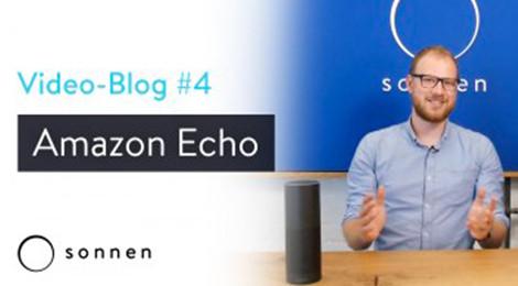 Produkt Manager erklärt, wie man den Batteriespeicher die sonnenBatterie mit dem Sprachassistent Amazon Echo benutzen kann