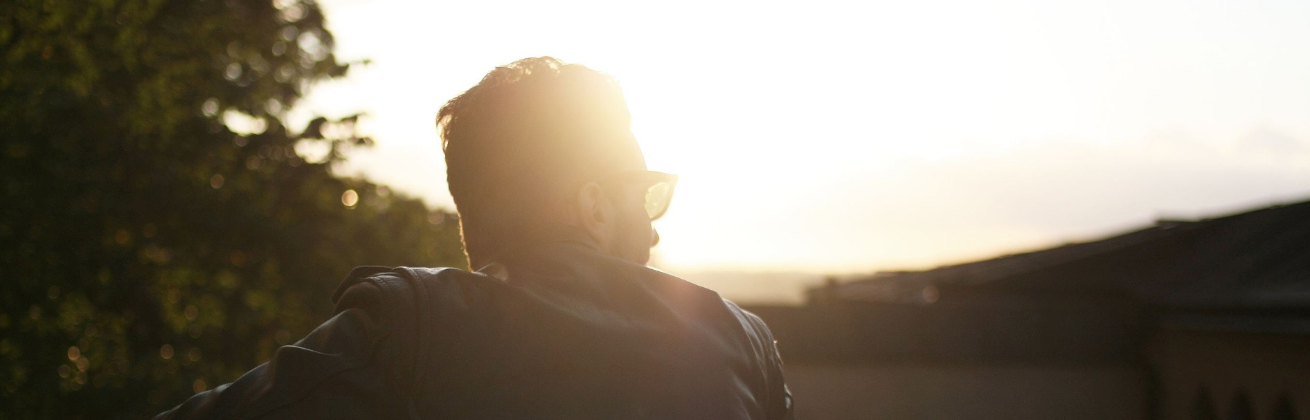 man with sunglasses in the sun