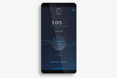 Darstellung des Lademodus smart in der sonnenCharger-App