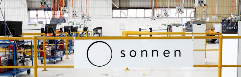 banner - sonnen factory sign