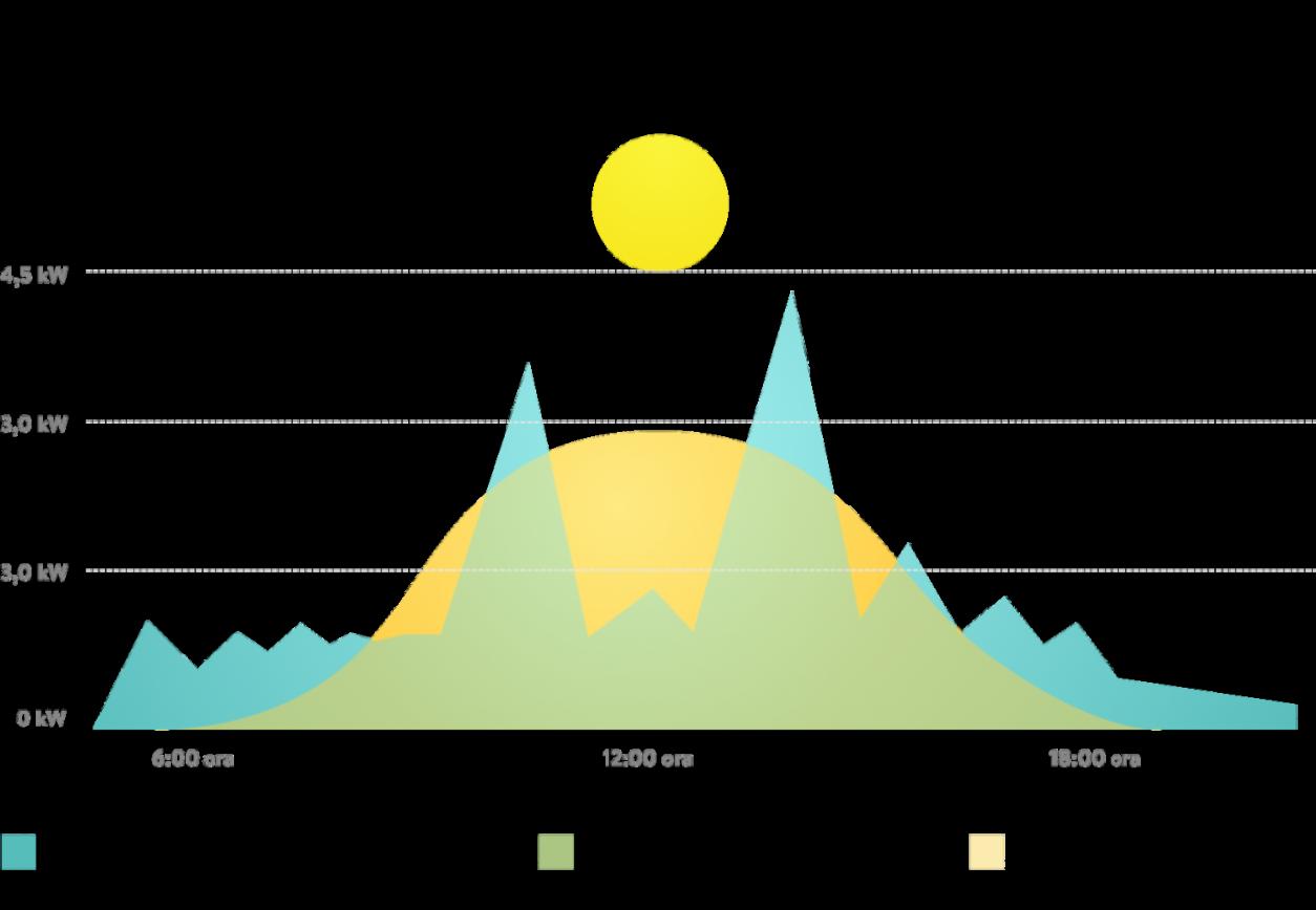 Grafico giornaliero produzione e consumo