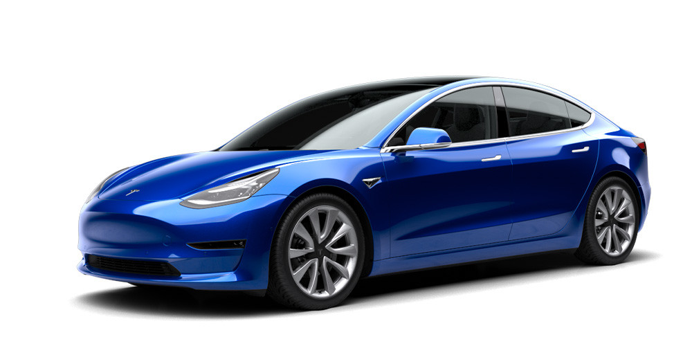 Vorderansicht Tesla Model 3