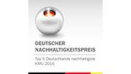 sonnen è una delle 5 migliori piccole-mediemprese del German Sustainability Award 2016, il cui patrocinio è offerto dal cancelliere tedesco Dr. Ing. Angela Merkel