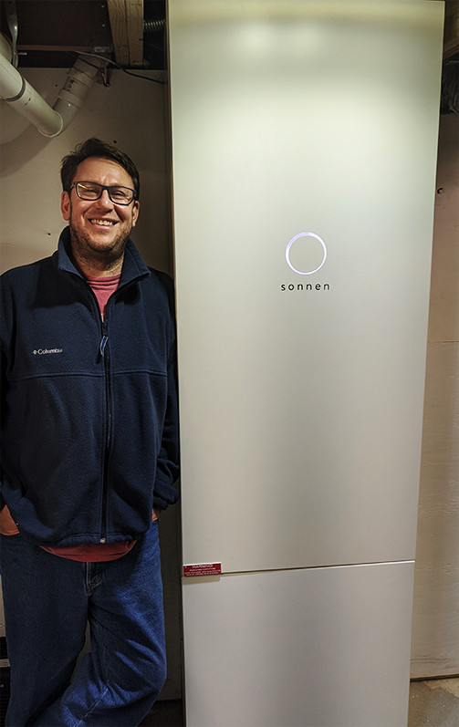 Customer with his sonnen eco 17.5 kWh home battery system