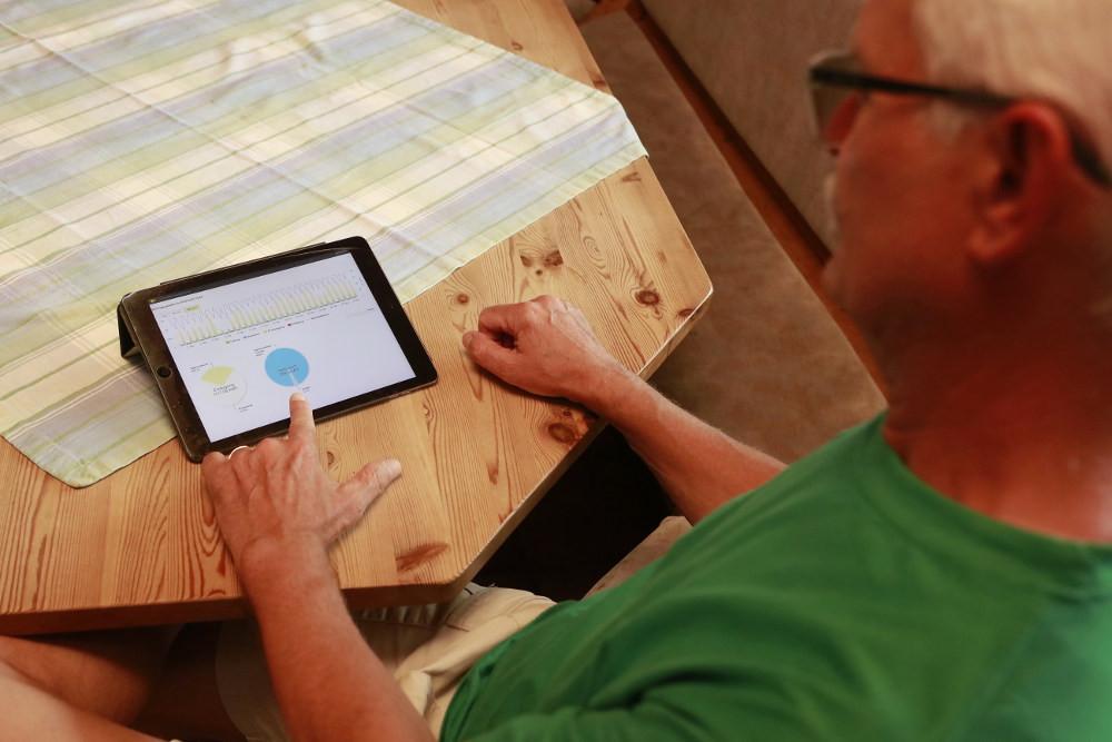 Stromspeicher in Verbindung mit einer App und smart home