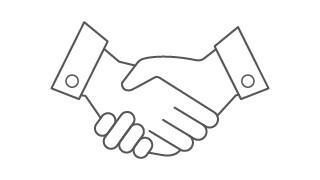 Grey Handshake