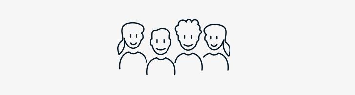 4 Personen als Icon dargestellt