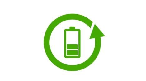 Batterieicon im Kreislauf