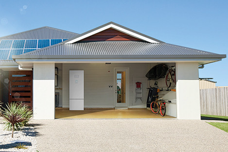 sonnen eco energy storage system in garage