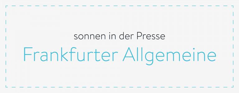 sonnen in der Presse - Frankfurter Allgemeine