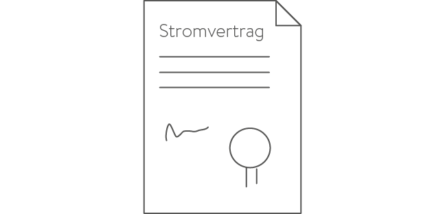 Icon Stromvertrag