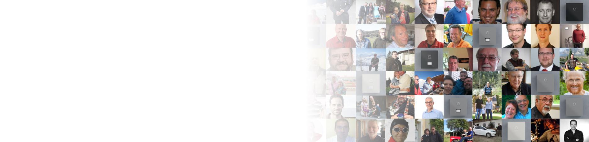 Gemeinschaft sonnenCommunity Mosaik Portraits