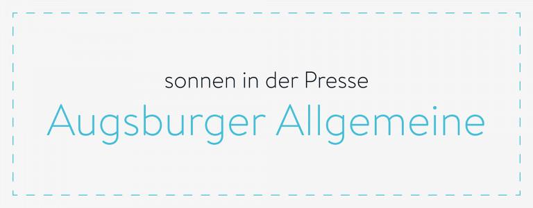 sonnen in der Presse - Augsburger Allgemeine