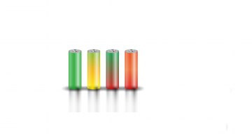 Batterie in verschiedenen Farben - Lithium-Ionen-Akku - Lithium-Eisenphosphat-Akku