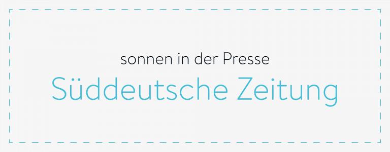 sonnen in der Presse - Süddeutsche Zeitung